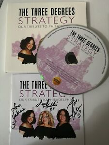 The three degrees. SIGNED Strategy tribute to philadelphia cd