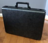 "Vintage Samsonite Brief Case Gray Hard Shell Combo 18"" x 14"" x 5"""