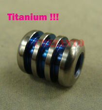 Blue color Titanium Ti Paracord beads Knife Tool Lanyard Bead Zipper pull LB158B