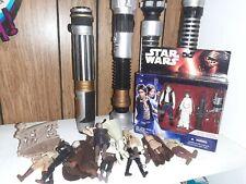 Hasbro Star Wars Action Figures Lot Jedi Luke Skywalker Lightsabers Lot #2