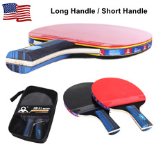 Pair Professional Table Tennis Ping Pong Racket Paddle Bat Bag Set without Ball