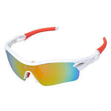 RockBros Polarized Cycling Sunglasses Sports Glasses Goggles White Red UV400