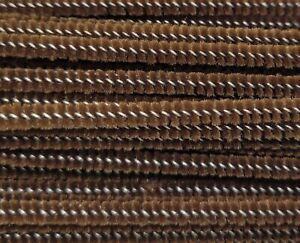 """Box of 100 Darice Brown Wired Chenille Stems Craft Pipe Cleaners 12"""" x 3mm 1/8"""""""