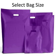 50 DARK PINK PLASTIC CARRIER BAGS PATCH HANDLES MIXED 3-SIZES Small Medium  L