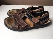 RIEKER men's brown leather comfort sandals EU size 45