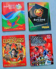 PANINI - TOPPS - 4 POCKETALBEN  EUROSTARS 2004 -EURO 2004 - WM 2006 - BL 2014/15