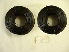 Tie Wire Rolls, 2 Rolls, 16.5 Gage, 400 ft. Black Annealed, New.
