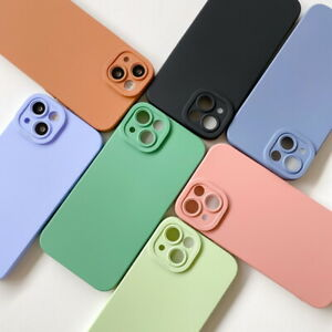 Case For iPhone 13 Pro Max 12 11 XR XS 8 Camera Lens Protect Silicone Soft Cover