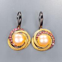 Pearl Earrings Silver 925 Sterling Fine art Jewelry Design  /E40472