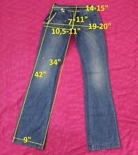 139$ NWT MISS SIXTY DY9008 FERGUSON szW24 L34 jeans boot cut streth cotton women