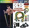 11 Pcs Resistance Bands Workout Fitness Exercise Yoga Home Gym Training Crossfit