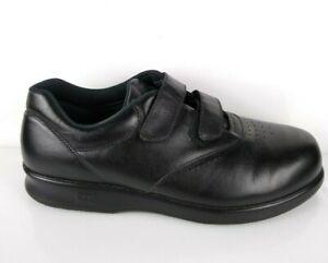 SAS Comfort Mens VTO Black Leather Walking Shoes Double Straps Sz 10 W