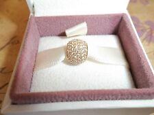 Genuine Authentic Pandora 14ct Gold Pave Lights Ball Charm 750819CZ - RRP £399