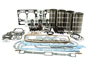 ENGINE OVERHAUL KIT FOR MASSEY FERGUSON 65 158 165 TRACTORS. AD4.203 WITH V/T