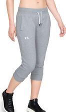 Under Armour Slim Leg Womens Fleece Cropped Joggers - Grey