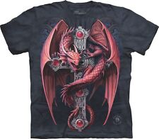 S - 3XL The Mountain Erwachsenen T-Shirt Anne Stokes roter Drachen Gothic Kreuz