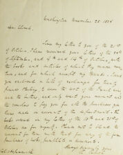 Richard Rush / A.L.S To Colonel Aspinwall Sending money for wine and 1826
