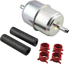 Hastings GF1 In-Line Fuel Filter with Clamps and Hoses
