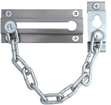 SECURIT ELECTRO CHROME DOOR BOLT AND SECURITY CHAIN 80mm / 3 inch S1637