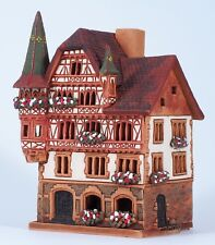Ceramic house tea light holder 'Hirshapotheke in Constance', 16 cm, © Midene