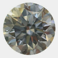 0.58 ct VS1/5.40 mm WHITE BLUEISH GRAY COLOR ROUND CUT LOOSE REAL MOISSANITE