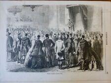 1861 HONGRIE OFEN REUNION DIETE DISCOURS TRIBUNE CROQUIS MAURAND