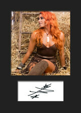 BECKY LYNCH #4 (WWE) Signed (Reprint) Photo A5 Mounted Print - FREE DELIVERY