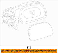 FORD OEM F-350 Super Duty Front Door-Side Rear View Mirror Left 7C3Z17683HA