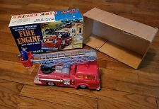 MARX 8319 Battery Operated Fire Engine w/Firemen Mystery Action WORKING/TESTED