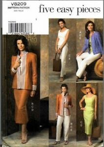 Discontinued Vogue 8209. Without Envelope. Factory Folded. Sizes 8-10-12