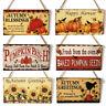 Fall Autumn Harvest Wooden Board Thanksgiving Pumpkin Hanging Sign Door Decor
