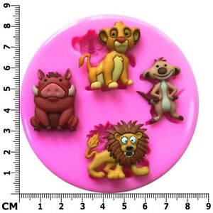 Lion King Simba, Timon, Pumbaa and Mufasa Silicone Mould - Fairie Blessings