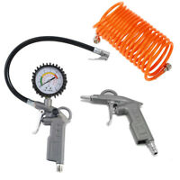 3 tlg. Druckluft Set für Kompressor Druckluftschlauch Reifendruck Ausblaspistole