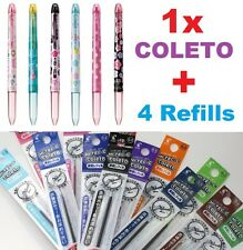4 Color PILOT HI-TEC-C Coleto Pens +4 Refills Japan Girl Gift 0.3 0.4 0.5mm Xmas