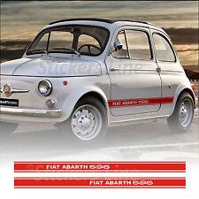 Fasce adesive Fiat 500 595 ABARTH D'EPOCA strisce CONTINUE fiancate vecchia 500
