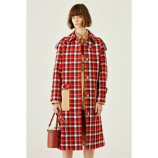 OROTON Ready to Wear current season multi check red coat size M (AU 10)