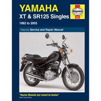 Yamaha SR125 SR125SE XT125 1982-2003 Haynes Workshop Manual