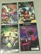 MARVEL COMICS CIVIL WAR II X-MEN #1-4 COMPLETE MINI SERIES RUN SET