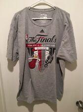 NBA The FiNALS 2014 San Antonio Spurs Vs Miami Heat Adidas Men's T Shirt 2XL XXL