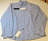 Tommy Hilfiger Mens long sleeve button up shirt M Slim Fit 15-15 1/2 Blue 117964