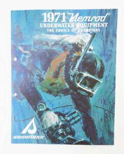 ORIGINAL1971 NEMROD UNDERWATER SCUBA EQUIPMENT CATALOG - 15 COLOR PAGES