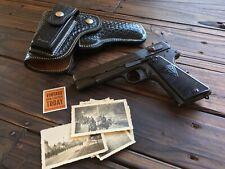 Alfonsos Black Basketweave Suede Lined Flap Holster For Colt 45 1911 Vis Radom