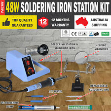 NEW Soldering Iron Station Kit Desoldering Pump Helping Hand Adjustable