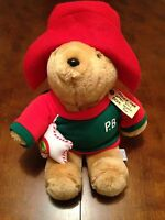 "Paddington Bear 16"" Plush Stuffed Animal Christmas 1995 Sears Kids Gifts"