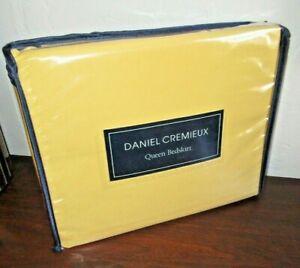 """Daniel Cremieux Bright Yellow Queen Bedskirt - Capri, 15"""" Drop, Split Corner NEW"""