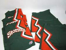 3 Matching Cheerleader Uniform Outfits Costumes Adult Size Yth XL 2XL STORMS