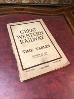 GWR 1947 Working Timetable Main Lines & Branches