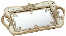 Pink and Gold Mirrored Tray Perfume Bathroom Storage Bedroom Dressing Decor
