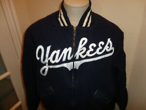 Vtg Cooperstown Wool New York Yankees SPELLOUT 1952 World Champions MLB Jacket L