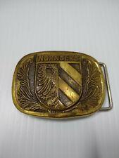 Nurnberg Solid Brass Belt Buckle